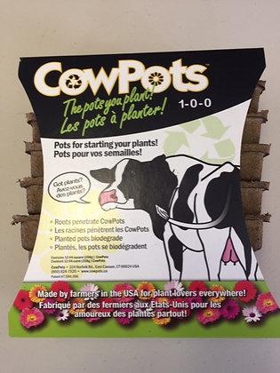 "CowPots Biodegradeable Pots 12 x 4"" Pot"