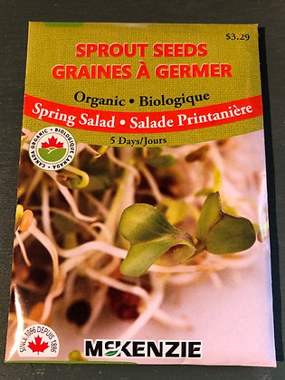 Sprouts Spring Salad - McKenzie Organic