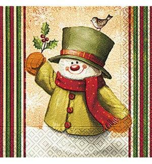 Napkin Cocktail - Hello Snowman
