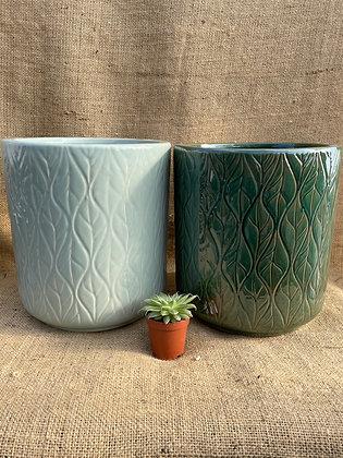 "Ceramic Pot  'Lars'  8""  (Select Colour)"