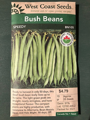 Bean Bush Speedy  -  West Coast Seed
