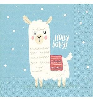 Napkin Luncheon - Holly Jolly Llama