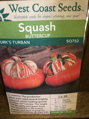 Seed - West Coast -Squash Buttercup Turk's Turban