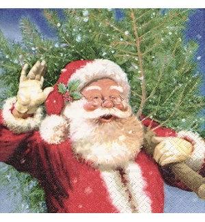 Napkin Luncheon - Santa and Tree