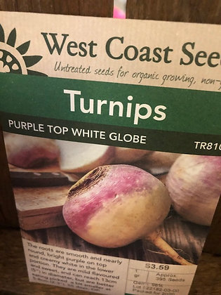 Turnip Purple Top White Globe - West Coast Seed