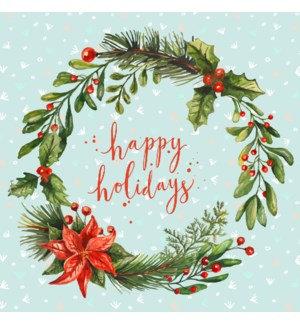 Napkin Luncheon - Happy Wreath