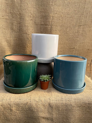 "Ceramic Pot  'Milan' 6""  (Select Colour)"