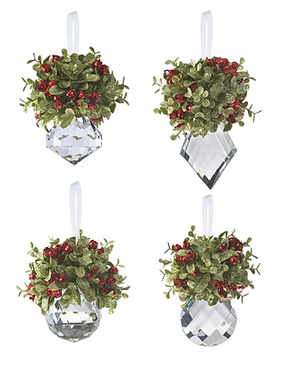 Mistletoe Krystal Ornament