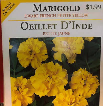Seed - OSC - Marigold Dwarf French Yellow