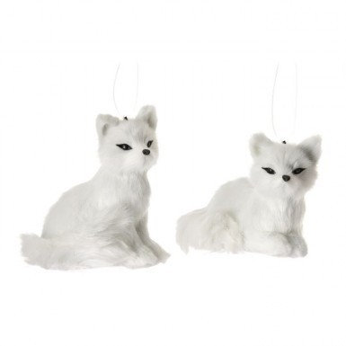 White Fox Ornament