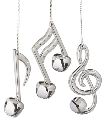 Silver Bell Note Ornament