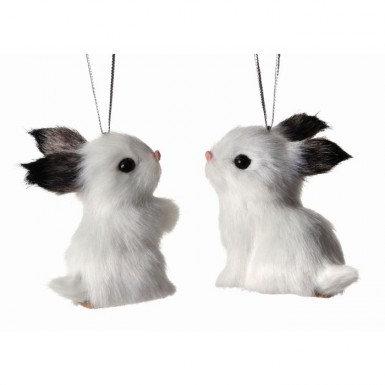 "Fur Rabbit Ornament 3"""