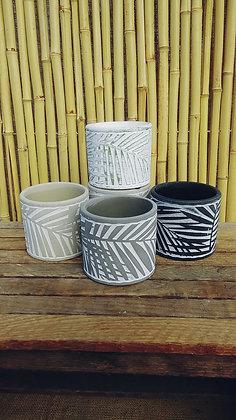 "Clay Pot Leaf Design 3""  (Select Colours)"