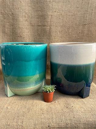 "Ceramic Pot  'Pjotr'  8""  (Select Colour)"