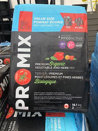 Premier Pro Mix Organic Veg & Herb Mix 112L Compressed