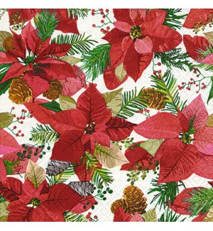 Napkin Luncheon - Poinsettia