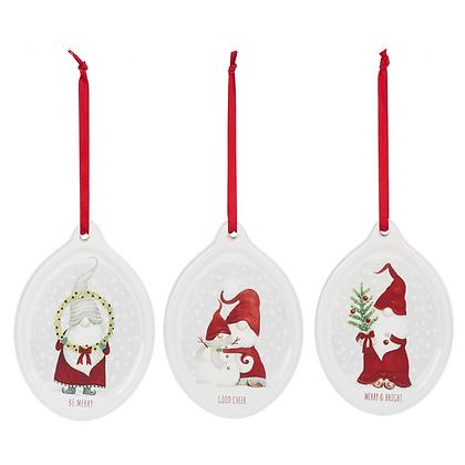 "Holiday Gnome Ornament 4.5"""
