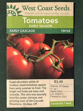 Tomato Early Cascade-  West Coast Seed