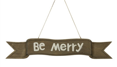 Be Merry Wood Plaque