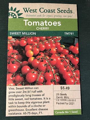Tomato Sweet Million  -  West Coast Seed