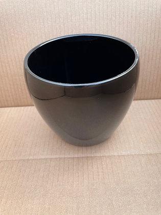 """Ceramic Pot 'Corban'  Black  6"""""""