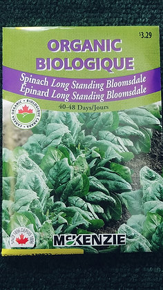 Spinach Long Standing Bloomsdale-Organic McKenzie
