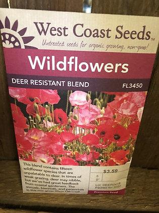Seed - West Coast -Wild Flower Deer Resistant Blend