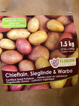 Seed Potatoes - Organic Combo Pack - 1.5 kg