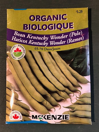 Bean Kentucky Wonder Pole  -  McKenzie Organic
