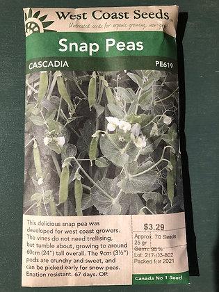 Peas Snap Cascadia  -  West Coast Seed