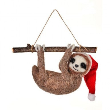 Wool Sloth on Branch