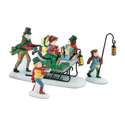 Dept 56  Caroling With Cratchits