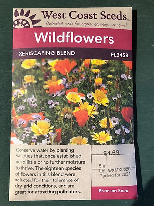 Wild Flower Xeriscaping Blend - West Coast Seed