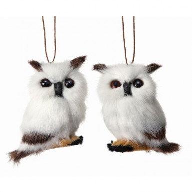 """Fur Owl Ornament 3"""""""