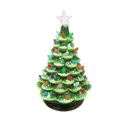 "Ceramic Lighted Tree 8"""