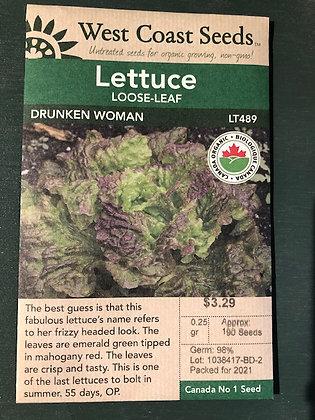 Lettuce  Drunken Woman  -  West Coast Seed