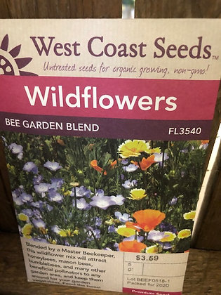 Wild Flower Bee Garden Blend - West Coast Seed