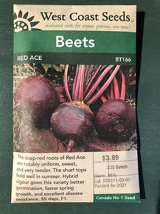 Beet Red Ace  -  West Coast Seed