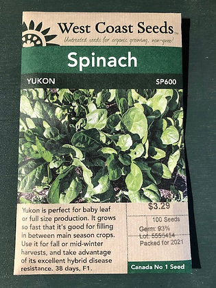 Spinach Yukon - West Coast Seed