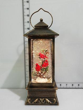 Cardinal Lantern Water Globe LED