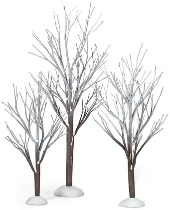 Dept 56 First Frost Trees  Set of 3