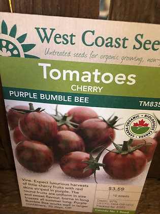 Tomato Purple Bumble Bee - West Coast Seed