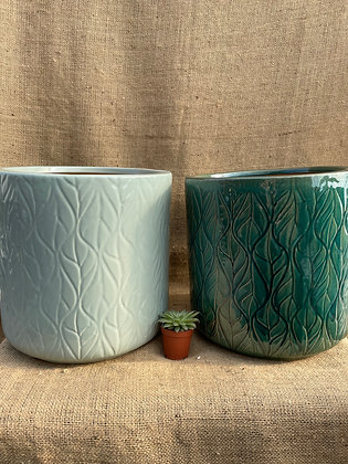 "Ceramic Pot  'Lars'  10""  (Select Colour)"