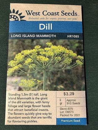 Dill Long Island Mammoth  -  West Coast Seed