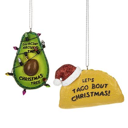 Taco Avocado  Ornament