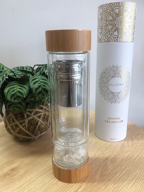 Clear Quartz Crystal Tea Flask