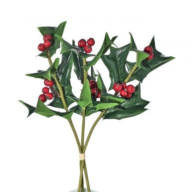 Fresh-Look Holly Sprig Pick