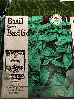 Seed - Aimers Organic Herb - Basil Genovesee