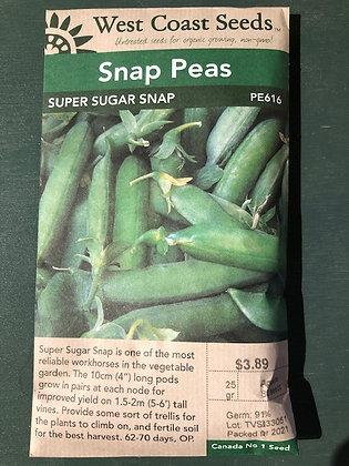 Peas  Super Sugar Snap - West Coast Seed