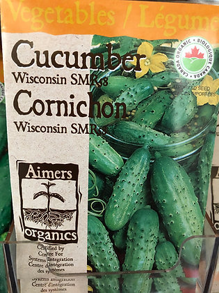 Seed - Aimers Organic - Cucumber Wisconsin SMR 58